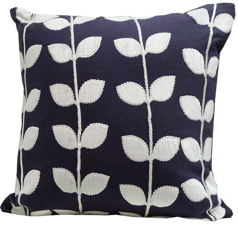 Kussani Cushion Cover Blue Navy Vine 45cm x 45cm K383