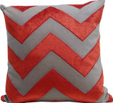 Kussani Cushion Cover Red Chevron 45cm x 45cm K377