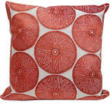 Kussani Cushion Cover Red Puff 50cm x 50cm K438