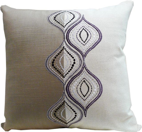 Kussani Cushion Cover Taupe Ripple 50cm x 50cm K361
