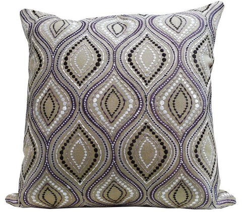 Kussani Cushion Cover Taupe Wave 45cm x 45cm K358