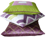 Kussani Cushion Cover Lime Aubergine Deco 50cm x 50cm K443