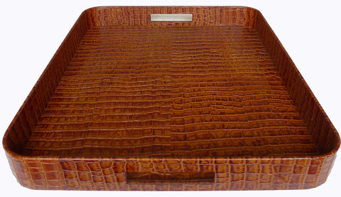 Kussani Ottoman Tray Tan Leather 50cm x 60cm KT8TC