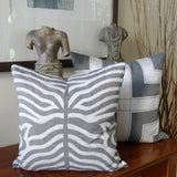 Kussani Cushion Cover Grey Zebra 45cm x 45cm K458