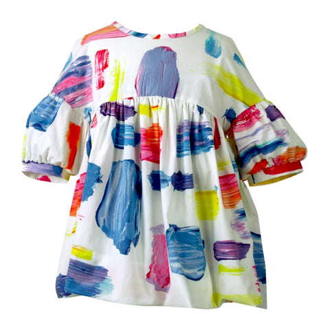Matilda Smock Top - Light and Bright