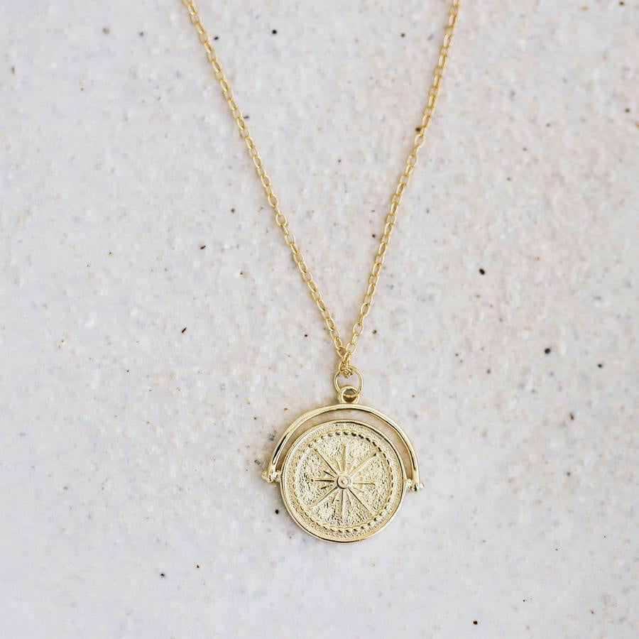 Golden Compass Necklace