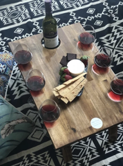 Folding Wine Table - 6 Glass