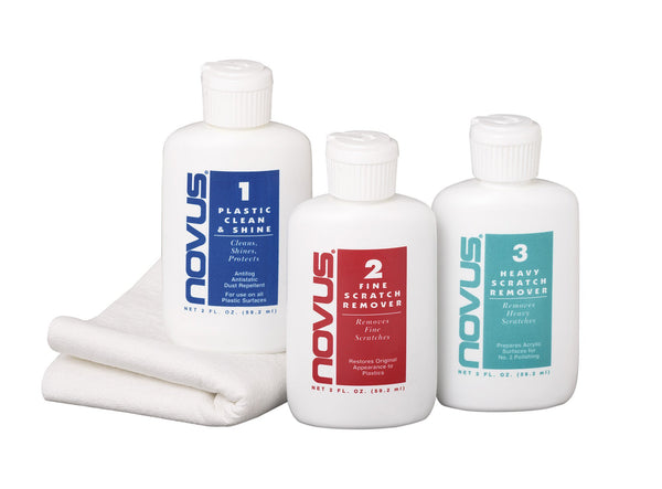 NOVUS Cleaning and Scratch Remover Kit for Plastic Lens Ports