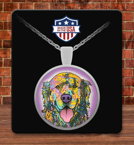 Golden Retriever Colorful Necklace