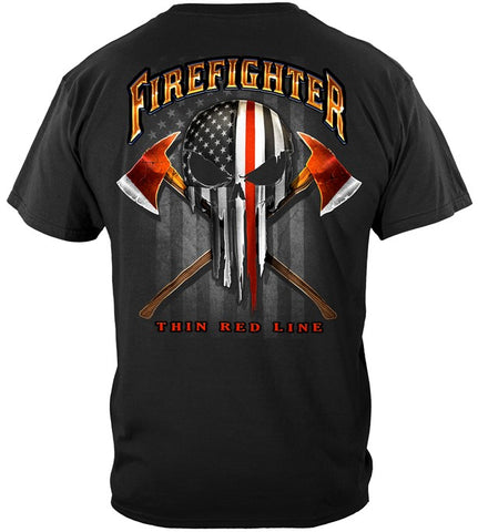 American Pride Firefighter Skull of Freedom T-Shirt- FREE Shipping!