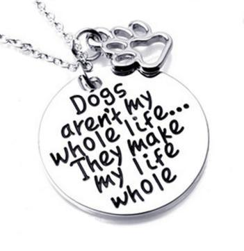 2 Dog Sayings Necklaces