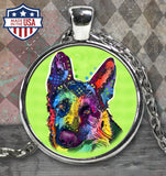 German Shepherd Colorful Necklace