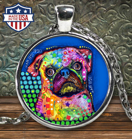 Pug Colorful Necklace