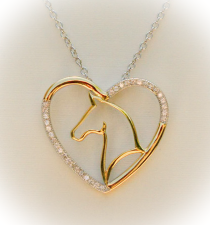Golden Horse Necklace
