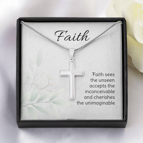 Faith Sees The Unseen Cross Necklace
