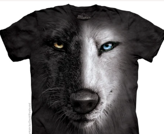 Black & White Wolf Shirt