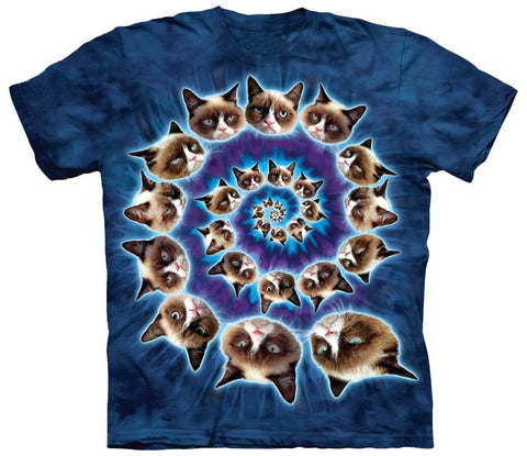 Cat Shirt - Cat Grumpy Swirl