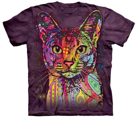 Cat Shirt - Colorful Abyssinian Cat