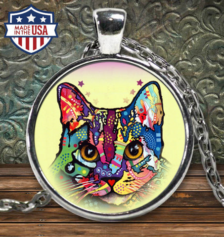 Cat Colorful Necklace