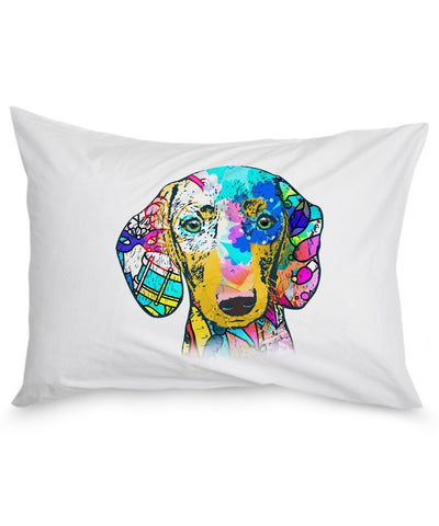 Dachshund Shirt - Colorful Dachshund Pillowcase