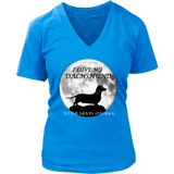 Dachshund Shirt - Dachshund Love To The Moon And Back