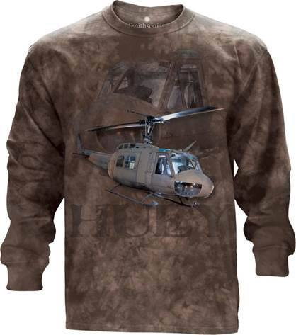 Flight Shirt - Huey Helicopter Long Sleeve