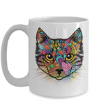 Cat of Many Colors mug