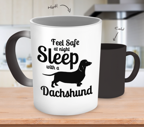 Dachshund Sleep with Color Changing Mug