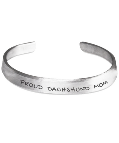 Proud Dachshund Mom Stamped Bracelet