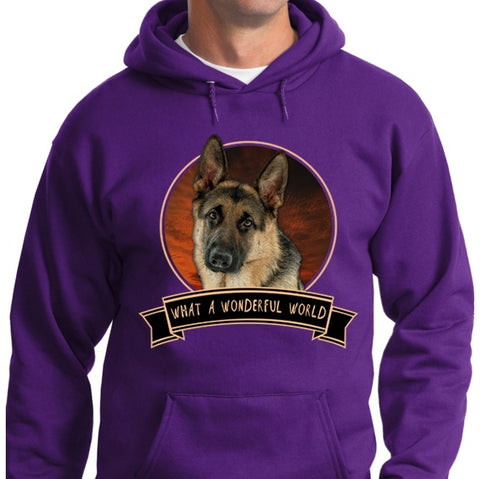 German Shepherd Shirt - German Shepherd Wonderful World Long Sleeve & Hoodie