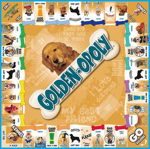Golden Retriever Shirt - Golden-opoly Board Game