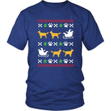 Golden Retriever Shirt - Golden Retriever Ugly Christmas Sweater Design