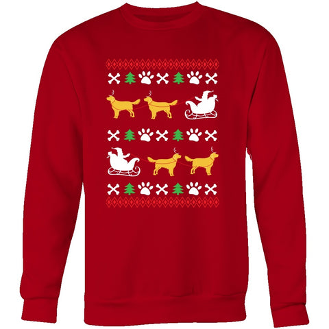 Ugly Christmas Sweater Design.Golden Retriever Ugly Christmas Sweater Design