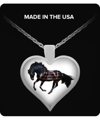 Horse Shirt - American Horse Heart Necklace