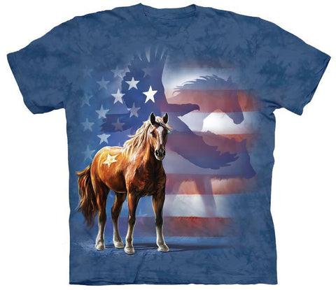 Horse Shirt - Horse Flag Eagle Shirt (Free Shipping)