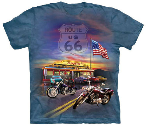Motorcycle Shirt - Motorcycle Heaven Route 66