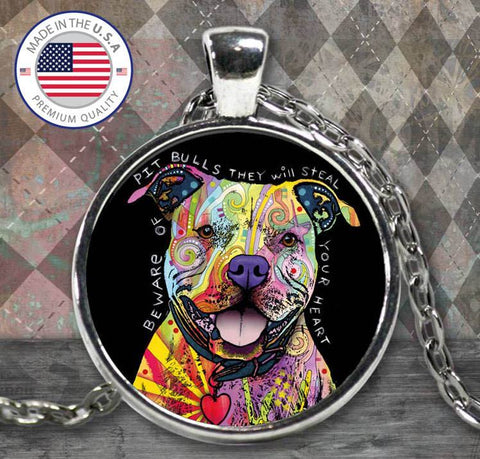 Necklace - Beware Of Pit Bulls Necklace