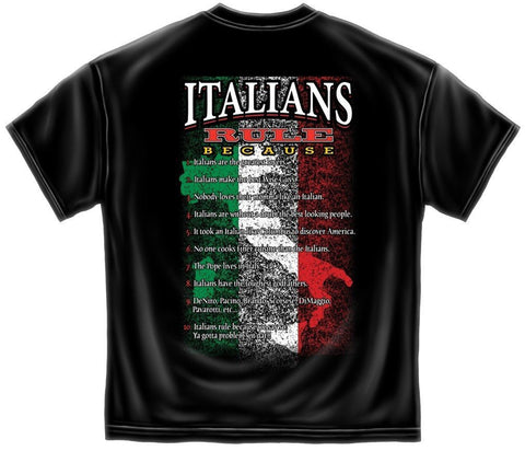 Novelty Shirt - Italian Rules