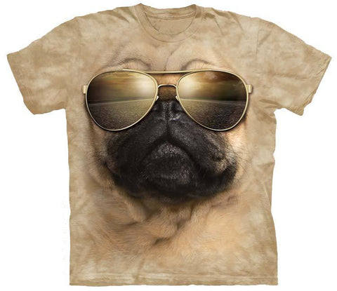 Pug Shirt - Pug Aviator Top Gun