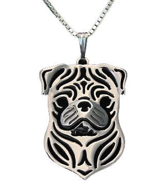 Pug Shirt - Pug Face Necklace