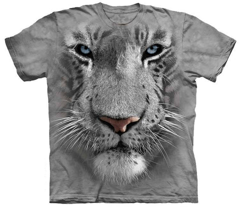 Tiger Shirt - White Tiger Face