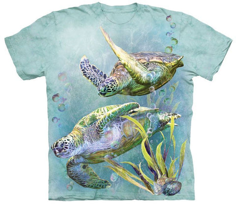 Wild Animal Shirt - Sea Turtles Swimming