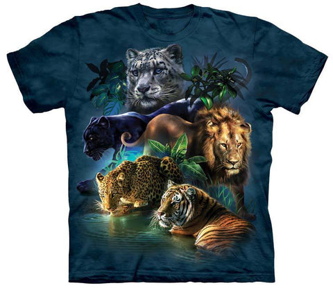 Wild Animals Shirt - Jungle Cats Party (Free Shipping)