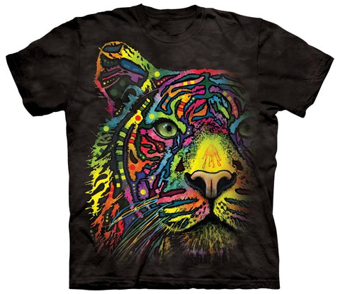Wild Animals Shirt - Tiger Face Colorful