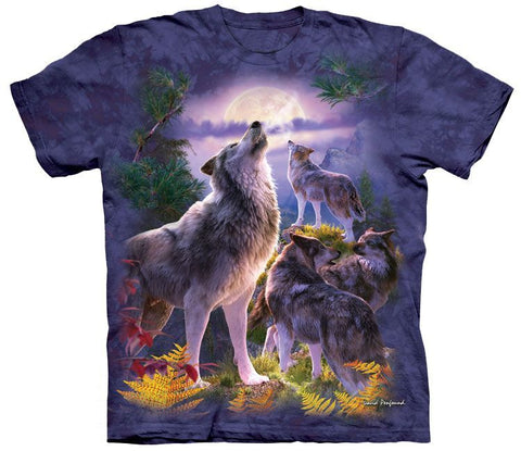 Wolf Shirt - Wolfpack Howl - New!