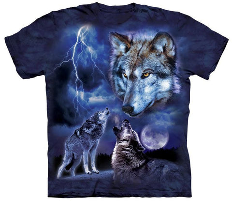 Wolf Shirt - Wolves Lightning