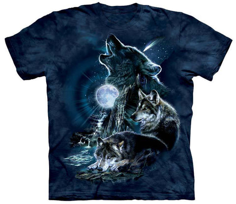 Wolf Shirt - Wolves Three Howl At The Moon