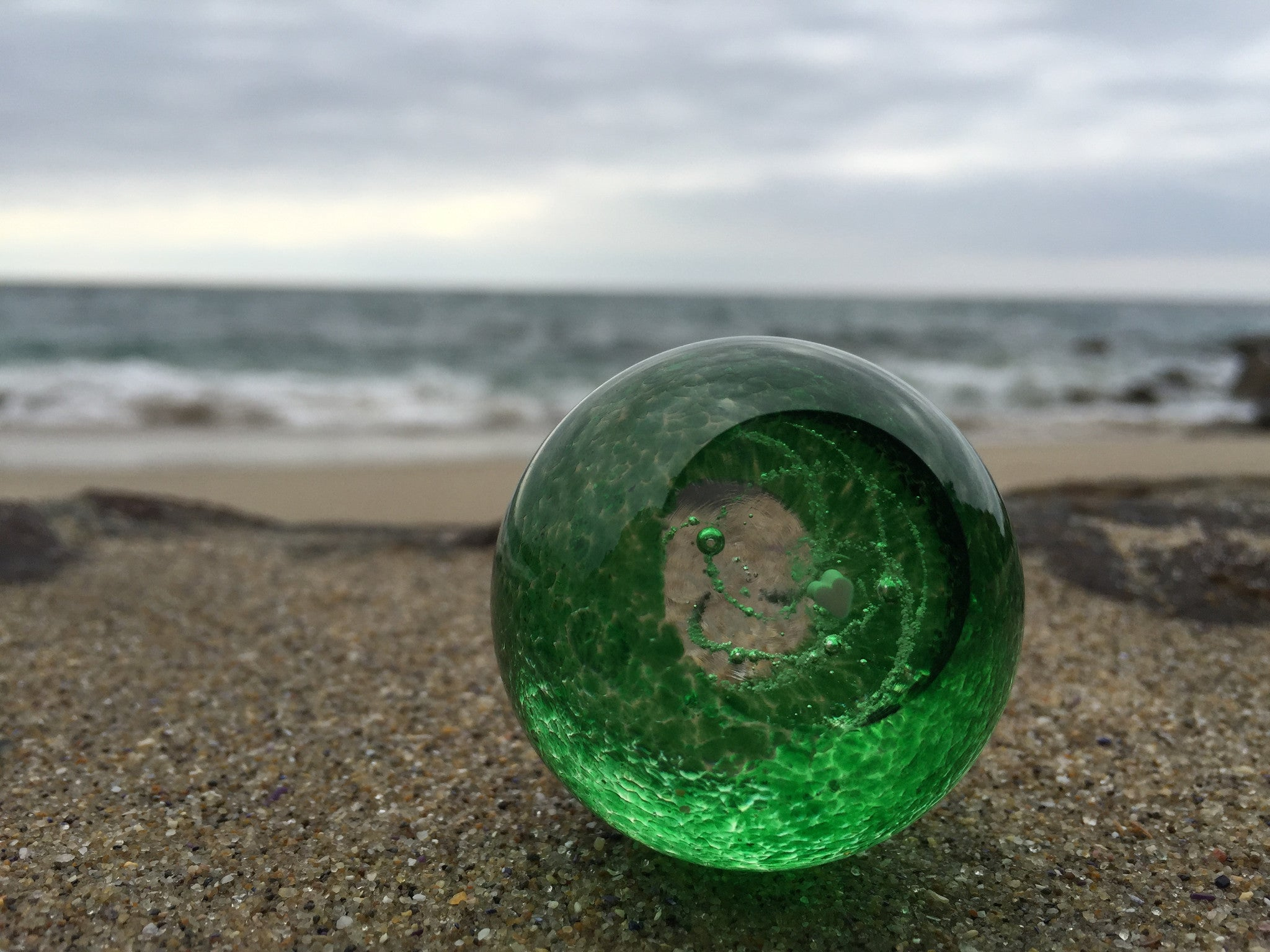 Green Ash in Glass Memory Globe
