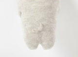 Pristine bear rattle in organic cotton