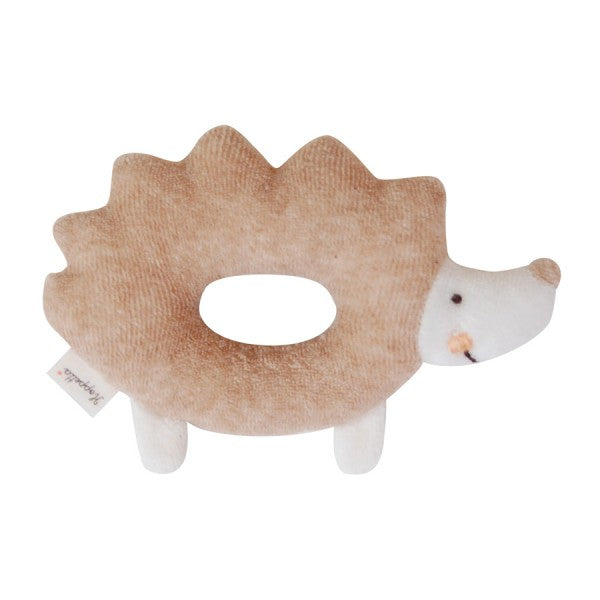 Hoppetta+ hedgehog rattle in organic cotton